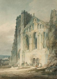 """https://www.facebook.com/MiaFeigelson """"Llandaff Cathedral: The West Front"""" (1795 - 6) (exhibited 1796) - pencil and watercolour on white wove paper: 35.5 x 25.9 cm - © Tate Britain, London, UK Accepted by the nation as part of the Turner Bequest 1856 http://www.tate.org.uk/ https://www.facebook.com/tategallery"""