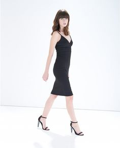 Black Fitted Pencil Dress - Atterley Road