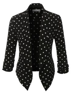 Step out of the box with our textured polka dot sleeve blazer for all of your fashion needs. The textured crepe fabric gives the blazer an edgy feel. Pair it with a fitted midi dress for a girls n Polka Dot Blazer, Striped Blazer, Polka Dots, Floral Blazer, Fitted Midi Dress, Blazers For Women, Women Blazer, Black Blazers, Swagg