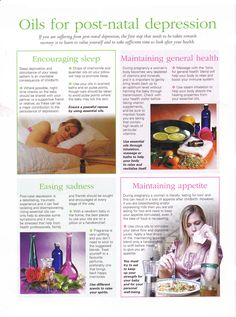 Young Living Essential Oils: Post - Natal Depression