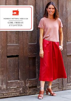 digital girl friday culottes sewing pattern....They look really cute on her, but I'm not sure I'm entirely sold on the idea of culottes.