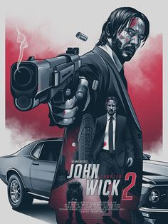 """Wick: Chapter 2 """"John Wick Chapter Keanu Reeves returns to finish what he started in the first film. Publicity material""""John Wick Chapter Keanu Reeves returns to finish what he started in the first film. Best Movie Posters, Cinema Posters, Movie Poster Art, Poster S, Cool Posters, Action Movie Poster, Poster Maker, John Wick Film, John Wick 2 Poster"""