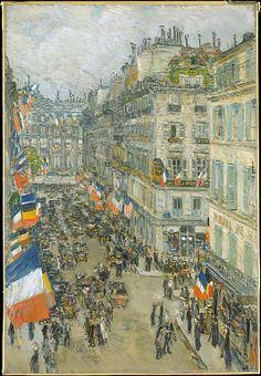 July Fourteenth, Rue Daunou, 1910  Childe Hassam