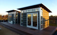 Potential guest cabin design./ Studio Shed | Backyard Studios & Home Office Sheds Reimagined | Modern, Prefab Shed Kits