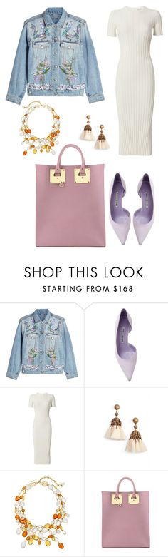 """""""Untitled #2471"""" by filipaloves ❤ liked on Polyvore featuring Alexander McQueen, Manolo Blahnik, Helmut Lang, Loren Hope, Loulou De La Falaise and Sophie Hulme"""