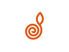 D   spiral   plant letter mark logo design symbol by alex tass