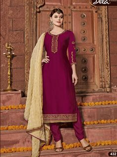 BELA D.NO.-432 RATE : 1305 - ARMANI BY BELA FASHION 432 TO 438 SERIES  BEAUTIFUL STYLISH FANCY COLORFUL CASUAL WEAR & ETHNIC WEAR SATIN GEORGETTE EMBROIDERED DRESSES AT WHOLESALE PRICE AT DSTYLE ICON FASHION CONTACT: +917698955723 - DStyle Icon Fashion