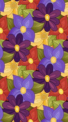 Excellent simple ideas for your inspiration Unique Wallpaper, Colorful Wallpaper, Flower Wallpaper, Pattern Wallpaper, Wallpaper Backgrounds, Cellphone Wallpaper, Iphone Wallpaper, Plum Art, Painting Patterns