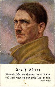 A Hitler propaganda postcard, illustrated by Karl Bauer (1933)