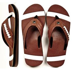 Authentic sandals for football fans Football Fan Shirts, Football Cheer, Fall Football, Football Love, Football Is Life, Football Fans, Football Season, Football Players, Football Parties