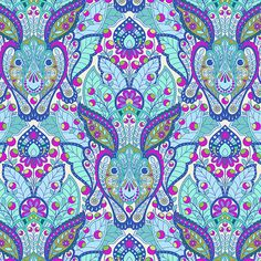 Tula Pink Slow and Steady The Hare in Blue Raspberry by mineymo