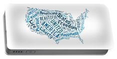 The United States Of America Map Art Portable Battery Charger.