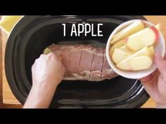 Yum... Slow Cooker Apple-Cinnamon Pork Roast - http://fooddonegood.com/comfort/slow-cooker-apple-cinnamon-pork-roast/