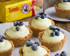 Turn dessert into a no-bake dream with this recipe for Tennis® Lemon Cheesecake Mousse, served in cute biscuit cups! An easy and delicious… No Bake Lemon Cheesecake, One Pan Meals, German Chocolate, Kraft Recipes, Mousse, Food To Make, Biscuits, Breakfast Recipes, Cups
