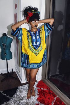 Yellow African Dashiki Dress/Top by MuurSwagg on Etsy