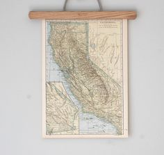 vintage california map