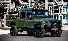 What do you get when you combine the off-road prowess and durability of a Land Rover Defender 130 with a from a Corvette? You get one badass off-road beast is what you get. This rugged machine you see before you was built by Land Rover specialty shop, … Land Rover Defender 130, Land Rover 130, Land Rover Series 3, Land Rovers, Landrover Defender, Automobile, Mens Gear, Land Cruiser, East Coast