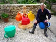 Created by designer holly palmer the tea cup stool gives a new