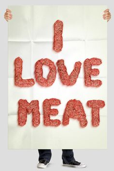 Typography made out of Mince
