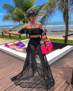 Honeymoon Outfits, Vacation Outfits, Summer Outfits, Cute Outfits, Beachwear Fashion, Boho Fashion, Fashion Dresses, Mode Chic, Summer Looks