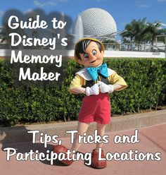 Walt Disney World's Memory Maker. the whole family can be included in the picture and photos can be accessed digitally