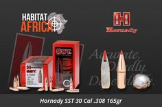 "The Hornady SST, short for ""Super Shock Tip"", is designed to deliver tremendous shock on impact while expanding quickly and reliably, particularly at higher velocities. Flat shooting and deadly accurate, it's an ideal bullet for African plains game from springbok to antelope and similar-sized game. The Hornady SST 30 Cal [...]"