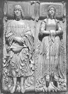 Effigies of Lodovico Sforza and Beatrice d'Este  c. 1497  Marble, length: 185 cm  Certosa, Pavia