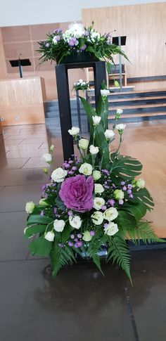 Altar Flowers, Church Flower Arrangements, Church Flowers, Table Arrangements, Floral Arrangements, Wedding Flowers, Altar Decorations, Wedding Decorations, Spring Wedding