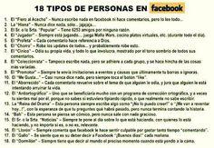18 tipos de personas en FB