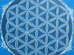 MANDALA KVĚT ŽIVOTA - 5. čakra Sacred Geometry, Gold Jewelry, Hand Painted, Mandala, Handmade, Hand Made, Gold Jewellery, Craft, Mandalas