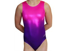 Gymnastics Leotards Girls OMBRE Pink Purple Leotard Gymnast Dance leotard Mystique Gymnastics or Dance Leotard Bodysuit. Matching hair scrunchie
