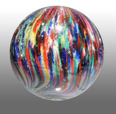 Glass marbles are hot collectibles, just check out these prices!: Onion Skin Mica Marble