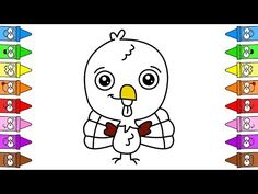 How To Draw Turkey | Turkey Coloring Page | Turkey Drawing Easy - YouTube