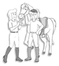 Bibi und tina ausmalbilder pferde Ausmalbilder