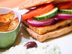 Greek Style Burger mit Zaziki