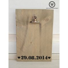 Memobord met datum - Wis en Waarachtig Bathroom Hooks, Bottle Opener, Wall, Key Bottle Opener