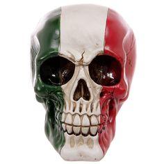Italian+Flag+Skull+Ornament
