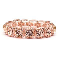 Austrian Crystal Rose Gold Event Bracelet | www.glamadonnashop.com.au