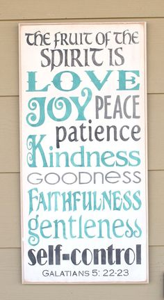 New The FRUIT of the SPIRIT is LOVE Joy Peace by CantonAntiques