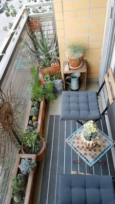 Amazing Small Balcony Ideas To Make Your Apartment Look Great. Below are the Small Balcony Ideas To Make Your Apartment Look Great. This post about Small Balcony Ideas To Make Narrow Balcony, Modern Balcony, Small Balcony Design, Small Balcony Garden, Small Balcony Decor, Balcony Plants, Small Balcony Furniture, Terrace Design, Garden Design