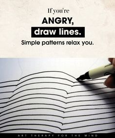 Art therapy activities drawing 15 Ways To Use Art For Controlling Your Mind And Channelling Your Emotions- feel angry: draw lines, simple patterns Art Therapy Projects, Art Therapy Activities, Therapy Tools, Play Therapy, Art Projects, Family Therapy, Therapy Ideas, Speech Therapy, Coaching