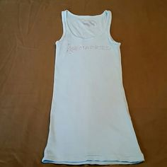 I do victoria secrets JUST MARRIED TANK !! Soooo cute like new only worn 1 time after I got married ....all stones in tact!!# :-) Victoria's Secret Tops Tank Tops