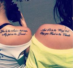 my best friend tatiana and i are getting these best friend tattoos(: