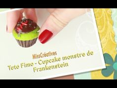 tutorial: mini Frankenstein cupcake