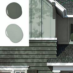 Exterior paint colors for house white siding benjamin moore 36 Trendy ideas Exterior Paint Colors For House, Paint Colors For Home, Exterior Colors, Exterior Design, Paint Colours, Exterior Shutters, Exterior Trim, Benjamin Moore Exterior, Pintura Exterior