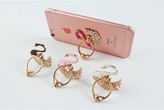 New Swan Shape 360 degree Rotated Universal Finger Ring Stand Bracket Buckle Mobile Phone Holder sky Animuss Company Limited www.animuss.net email:sky@animuss.net skype:animuss.animuss mobile/whatapp:+86-18033097183