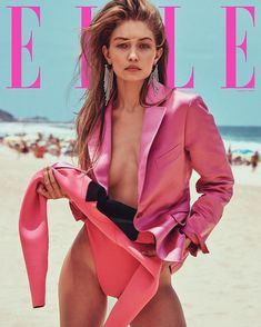 Gigi Hadid covers the March 2019 issue of ELLE magazine - her first ELLE US cover - which was shot in Rio de Janeiro, Brazil by photographed by Chris Elle Magazine, Vogue Magazine Covers, Magazine Mode, Vogue Covers, Model Magazine, Beach Shoot, Beach Babe, Kylie Jenner, Mode Chanel