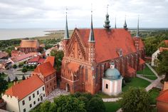 Frombork (Poland). Archcathedral Basilica of the Assumption of the Blessed Virgin Mary and Saint Andrew - brick gothic cathedral built between 1329-1388.
