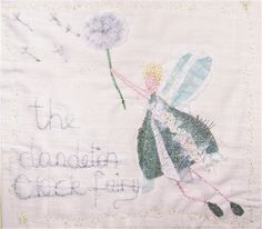 The Dandelion Clock Fairy floats in the breeze
