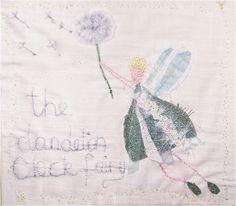 The Dandelion Clock Fairy floats in the breeze